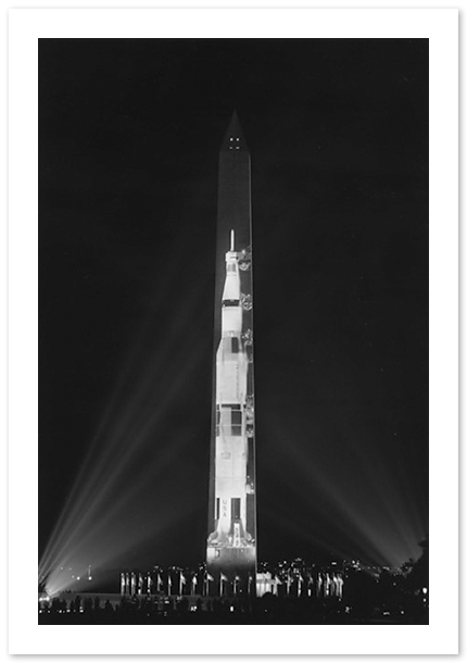 Saturn V Projection onto the Washington Monument, Robert Mills, Washington, DC