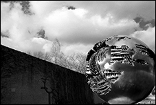 Sphere Number 6, Arnaldo Pomodoro, Washington, DC